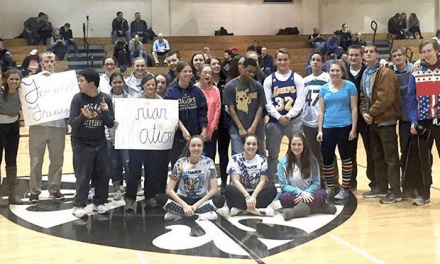 Warriors and Fenwick Best Buddies Watch Basketball Game