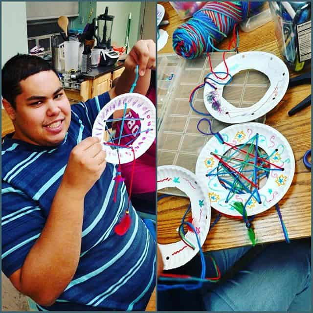 We made our own dream catchers in the Cultural Exploration After Opps program and learned about native American culture this past week!