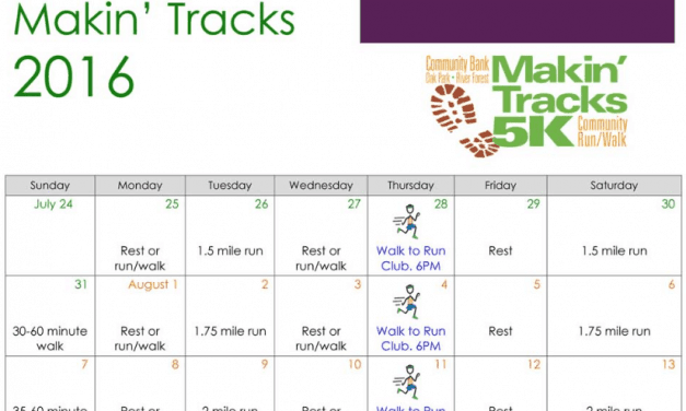 Makin' Tracks 2016 Training Schedule