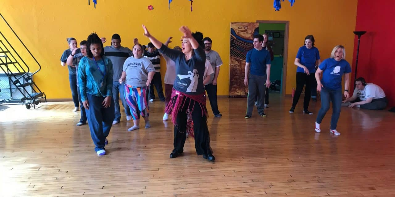 Warriors shimmy shimmy at Belly Dancing!