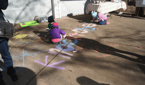 Knocktoberfest - sidewalk chalk